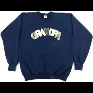 Vintage 1989 'GRANDPA' Graphic Crewneck Sweatshirt